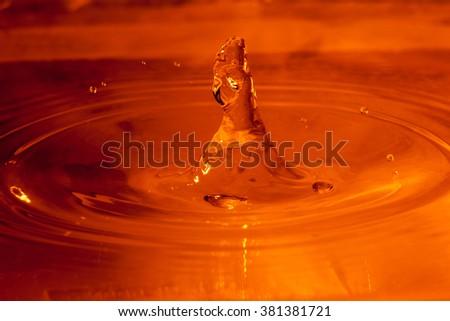 Water splashes - stock photo