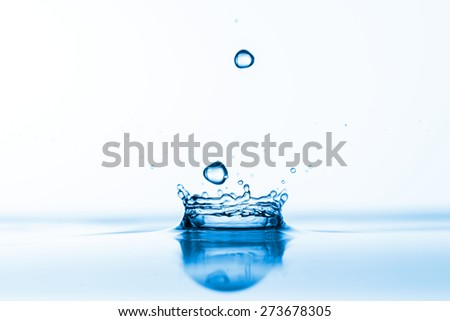 Water splashes background - stock photo