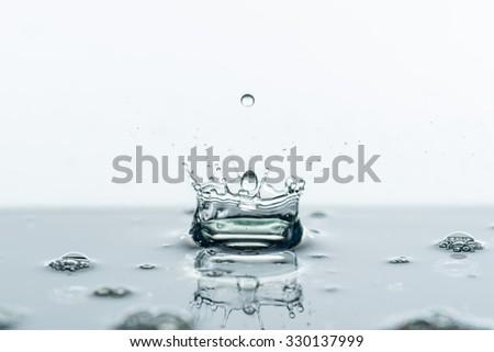 Water splashes background - stock photo
