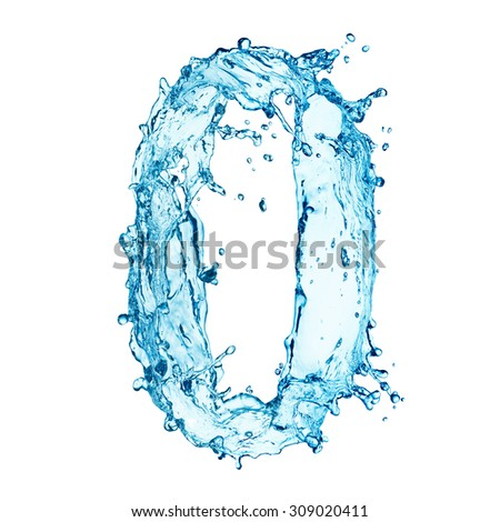 Water splashes letter