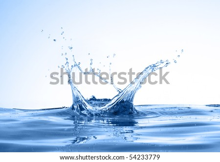 water splashes like crown. see more on my page - stock photo