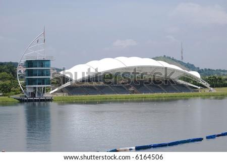 Water Sport Center, located at Putrajaya, Malaysia - stock photo