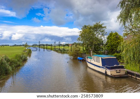 Water sports in Friesland, Netherlands - stock photo