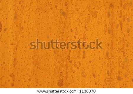 Water Spotted Metallic Copper Plate Background - stock photo