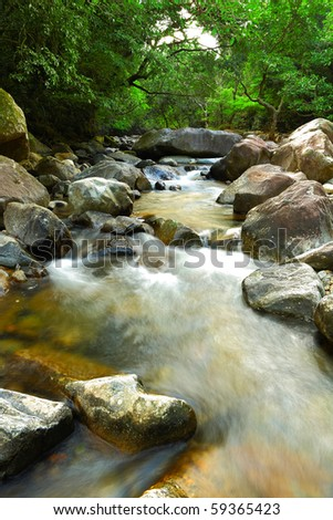 water spring in jungle - stock photo
