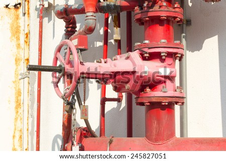 Water sprinkler and fire fighting system  - stock photo