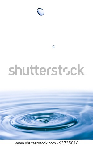 water surface and drop - stock photo
