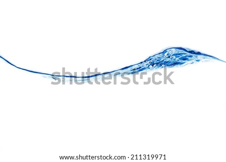 water surface isolated on white - stock photo