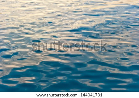 water surface of the sea background - stock photo