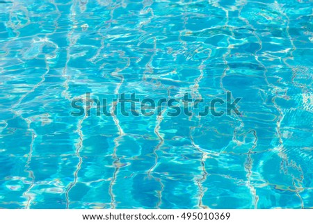 Water surface on swimming pool