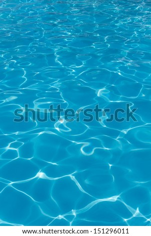 Water swimming pool - clear blue - vertical