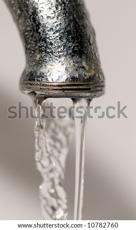 water tap close up - stock photo