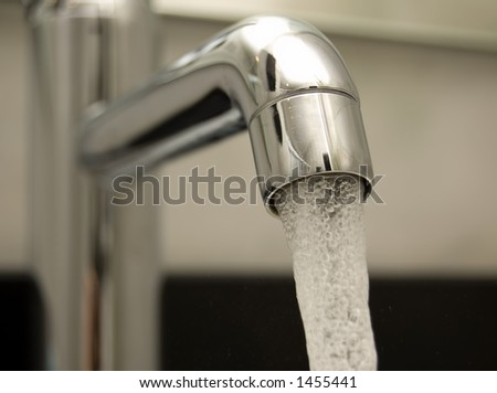 Water tap closeup