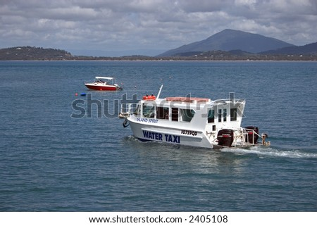 Water taxi in Great Barrier Reef of Australia (Queesland)