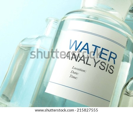 Water testing - stock photo