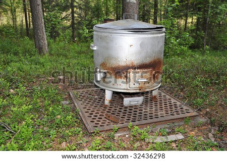 Water Thin as boiling water in. - stock photo