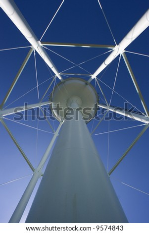 Water Tower with cell anntenas attached. - stock photo