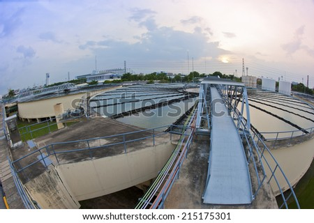 Water Treatment Plant  - stock photo