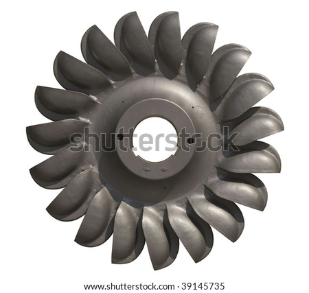 Water Turbine for Hydroelectric Generation and Sustainable Power - stock photo