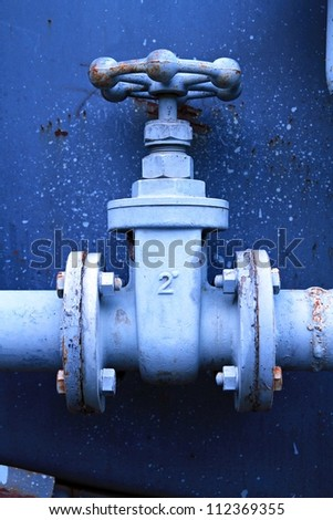 Water valve. - stock photo