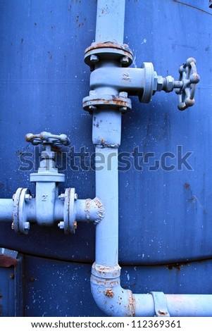 Water valve. - stock photo
