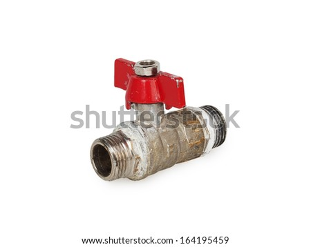 Water valve isolated on white background