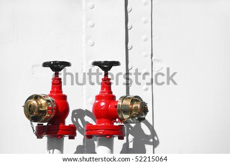 Water valves for Fire protection - stock photo