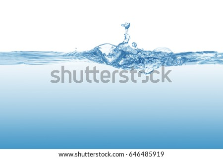 Water,Water splash and ripple isolated on white background.