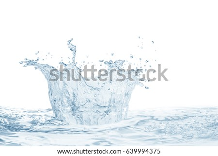 Water,water splash isolated on  background