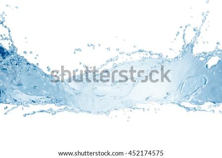 Water,water splash isolated on white background   - stock photo