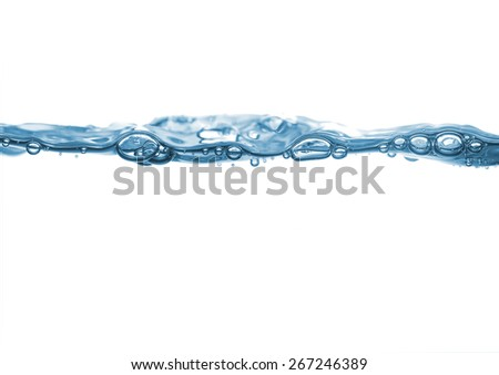 Water wave in white background  - stock photo