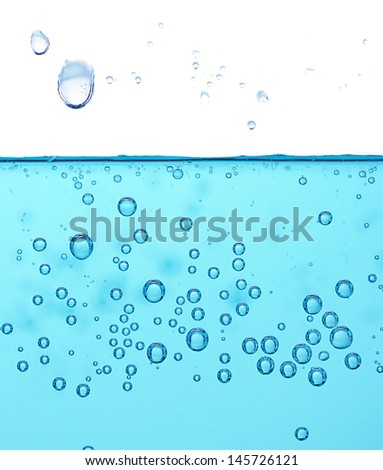Water wave isolated on white - stock photo