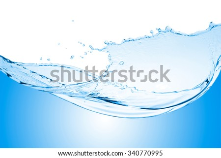 Water wave splash - stock photo