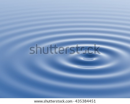 Water waves and ripples. 3D rendering.