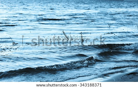 Water waves for nature backgrounds