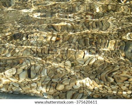 water waves on rocks - stock photo