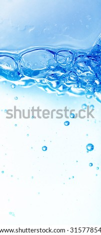 Water with air - stock photo
