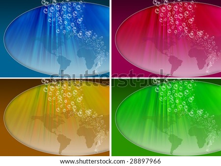 water with bubbles - stock photo