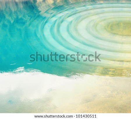 Water with ripples in natural lake.