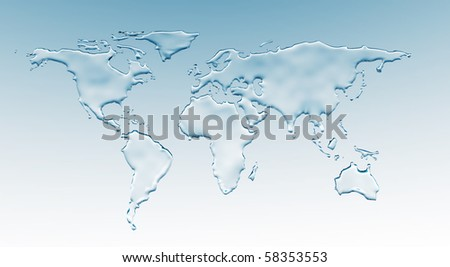 Water world - stock photo