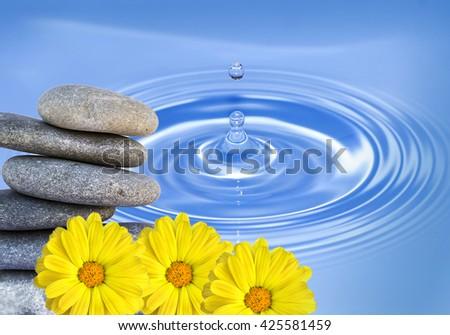 water zen - stock photo