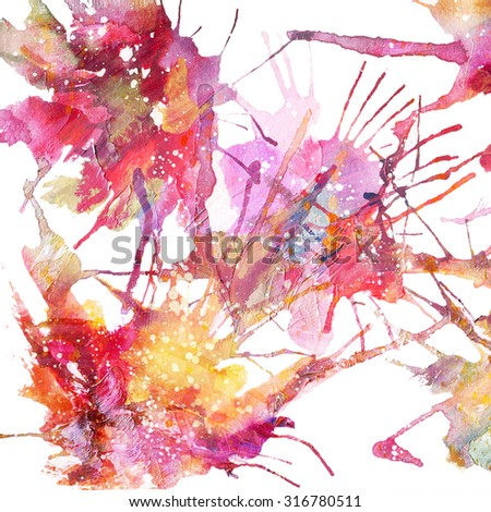 watercolor abstract background - stock photo