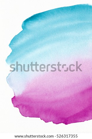 watercolor abstract background hand painted on white