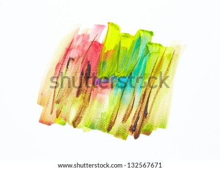 Watercolor abstract hand painted background - stock photo