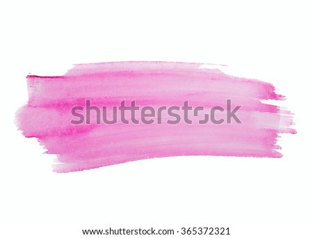 Watercolor. Abstract painted stroke on watercolor paper - stock photo
