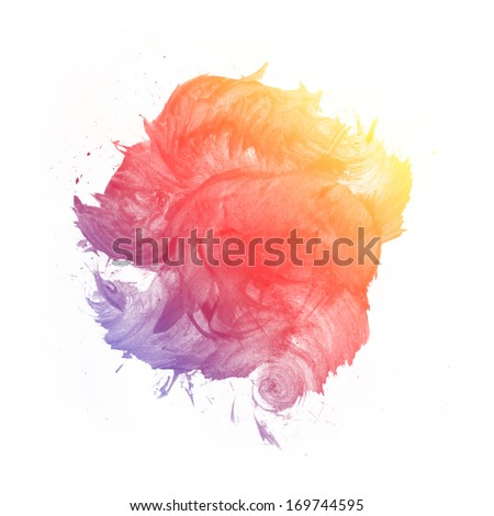 Watercolor Abstract Painting - stock photo