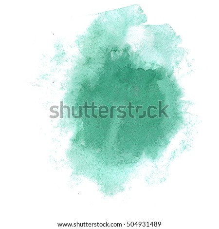 watercolor abstract splash. green watercolor drop isolated blot for your design