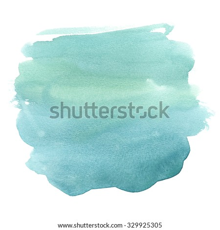 Watercolor background clip art isolated on white - stock photo