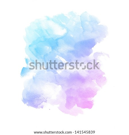 Watercolor background. colorful Abstract water color art  painting - stock photo