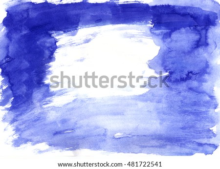 Watercolor background. Colorful Indigo. Abstract paper texture. You can insert text or use in design.